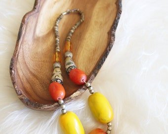 S A L E chunky bead statement necklace