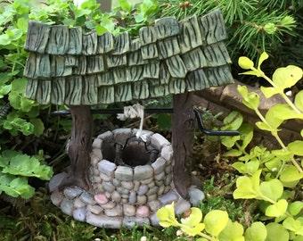 Mini Wishing Well, Fairy Garden Accessory, Miniature Gardening, Garden Decor,  Topper,