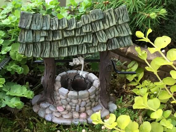 Mini Wishing Well, Fairy Garden Accessory, Miniature Gardening, Garden Decor, Topper, Fiddlehead Mini Wishing Well