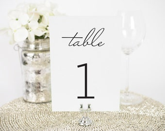 "Wedding Table Numbers - 4x6"", Any Color - French Country Design - Decorative, Party Decoration, Rustic"