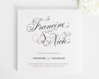 Wedding Programs - Glamorous Script Design - Deposit