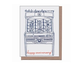 Jukebox Anniversary Card