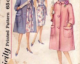 1960s Coat & Sheath Dress Pattern - Vintage Simplicity 4338 - Bust 32