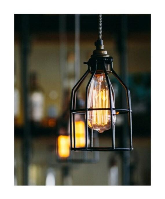 suspension industriel suspendu ampoule edison avec clairage. Black Bedroom Furniture Sets. Home Design Ideas