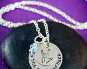 SALE - I Love You to the Moon and Back Necklace - Quote Jewelry - Personalized Gifts  - Birthday Gift - ASL - American Sign Language