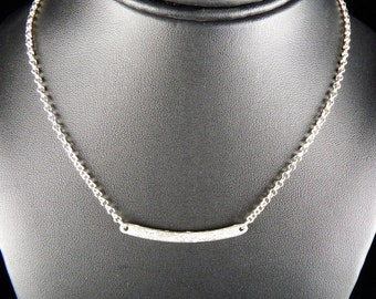 Fine Silver Bar Necklace