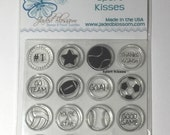 Sport Kisses Candies Clear Stamps Set Jaded Blossom New