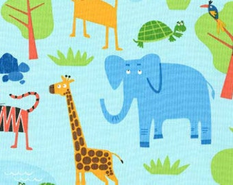 1 Yard of Jungle Party Fabric Bright from Robert Kaufman