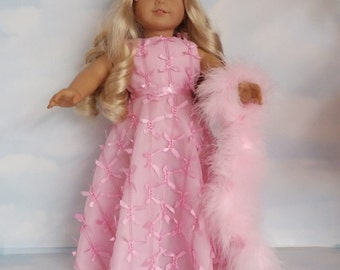 18 inch doll clothes - #274 Pink Ribbon Gown made to fit the American Girl Doll - FREE SHIPPING