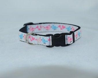 SALE - Love Birds - Small Dog Adjustable Collar
