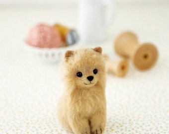 DIY handmade Wool felt Kit Pomeranian --- Japanese kit package H441-450