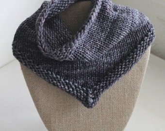 Made to Order Hand Knit Merino Wool Bandana Cowl Neck Scarf, Babies - Adult Sizes Available!