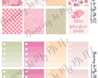 Peonie Bloom Erin Condren Vertical Weekly Spread Six Sheet Kit