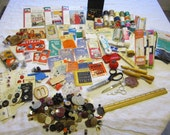 vintage notions lot - destash lot - instant sewing kit - set b