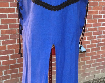 Blue and Black Medieval Knight's Surcoat