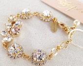Swarovski Crystal Bridal Bracelet- Crystal Wedding Bracelet