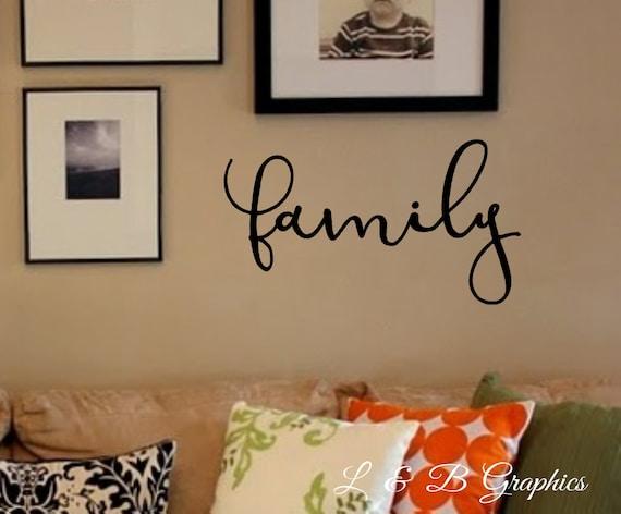 Items similar to family vinyl wall decal dining room for Dining room vinyl wall art