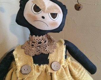 Handmade Primitive Bumble Bee Doll