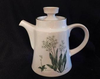 Noritake Mountain Flowers Green Coffee/Tea Pot Mint Condition