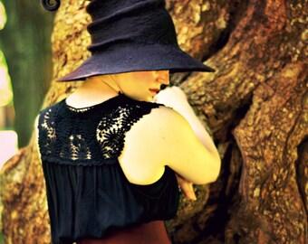 Halloween Witch Hat. Wizard Wizard Hat. Fantasy Hat. Cosplay Hat. LARP.