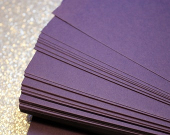 5 x 7 Purple Cardstock for Wedding Invitations, Stationery, and Placecards / DIY Supplies / Set of 25 Blank Dark Purple Cardstock 5 x 7