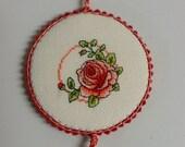 Rose Flower Pinkeep Pin Keep Pincushion Sewing Accessory