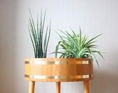 Fabulous 1960's Teak Planter - Flower Box - Plant Table - Scandinavian Mid Century - Panton Eames Era - Classic Nordic Design - Rare Item