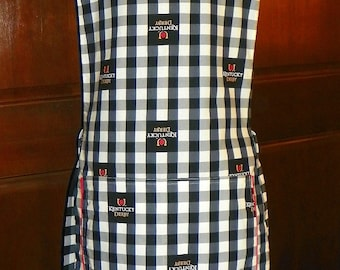 Kitchen Cobbler Lined Apron Smock Kentucky Derby Gingham Handmade for Kitchen Cooking Craft Activities Excellent Clothes Protector