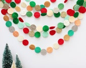 holiday felt and glitter circle garland (your choice of 3 color combinations)