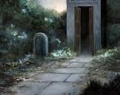 Necropolis VI - Oil painting