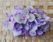 Beautiful lilac and purple hydrangea hair comb vintage rockabilly style wedding 40s 50s pin up bride hairflower haircomb boho