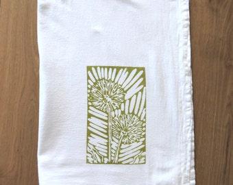 Dandelion Tea Towel Green