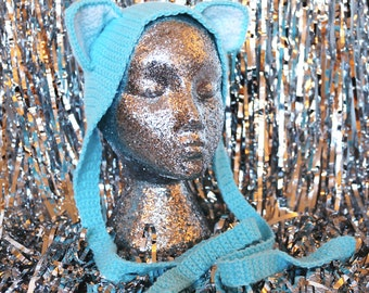 Sky Blue Kitten Ears Headband