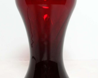 Red Ruby Glass Flower Vase Home and Garden Home Decor Vases