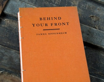 1928 BEHIND YOUR FRONT Vintage Notebook