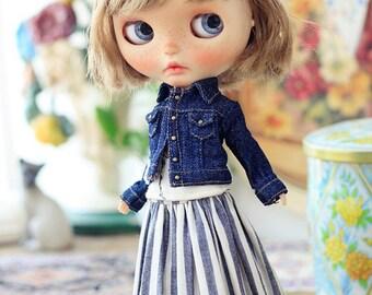 Sugarbabylove -New Denim jacket set for Blythe