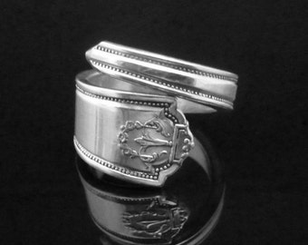Decorative Art Deco Spoon Ring, Homestead 1922