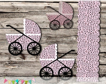 Small and Medium Baby Carriage - Stroller - Buggy - Baby Shower -  Party Favor Boxes - DIY - Printable - INSTANT DOWNLOAD