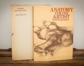 Anatomy for the Artist HC/DJ Book w/Slipcover, Jeno Barcsay, Vintage 70s