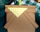 Picnic Invitations - Yellow Gingham (8 Pack)- Customized