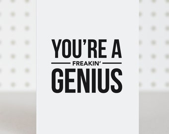 Genius - Congratulations Card