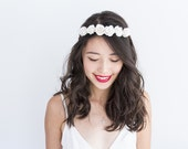 simple and sweet rose hair wreath // white / flower crown rustic dainty whimsical romantic floral headpiece festival flower girl