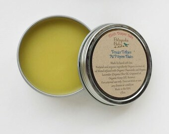 tender tushies all purpose balm, infused with lavender and chamomile, cloth diaper safe