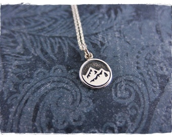 Tiny Earth Element Necklace - Sterling Silver Earth Element Charm on a Delicate Sterling Silver Cable Chain or Charm Only