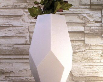 Vase White Abstract Geometry Basic Vase
