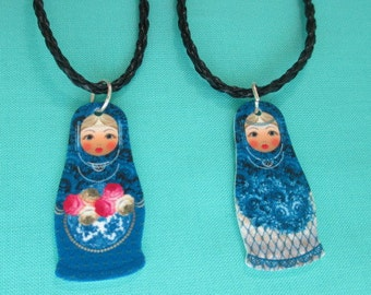 MATRYOSHKA RUSSIAN DOLL Necklace New - You Choose One