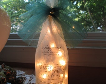 Inspire,inspirational gifts,lighted wine bottles,wine bottle lights, wine bottle light, wine bottle lamp, lamp, lamps, snowflakes