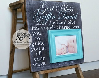 Baptism Gift for Godchild, Godson Gift, Goddaughter Gift, Christening Gift, 16x16 The Sugared Plums Frames