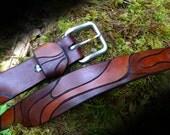 Custom Leather Belt, Mens Belt, Drift Wood, Grooms Belt, Groomsmen Gift, Anniversary Gift, Personalized Gift