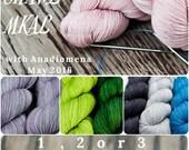Merino Light - MKAL Shawl Kit in 3 colors- Colour Adventures (superwash merino)